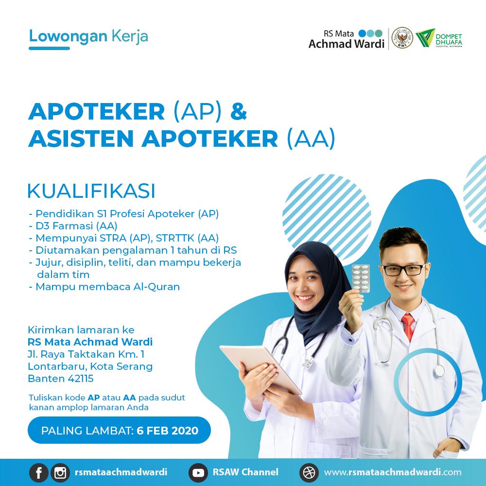Lowongan Kerja Apoteker Dan Asisten Apoteker